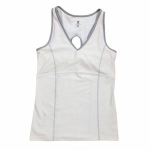 Old Navy White Athletic Sport Racerback Tank Top